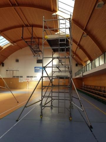 Sportovní hala Kostelec na Hané věž 12,7m a 6,2m
